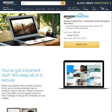 amazon black friday page amazon cloud drive unlimited online storage 1 year plan us 5