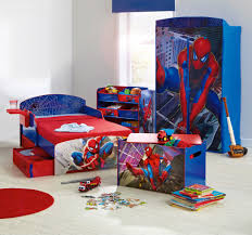bedroom attractive cool boys room spiderman theme bed and