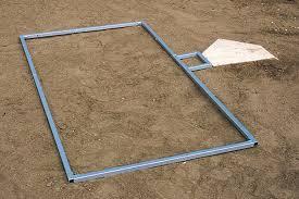 field marking spring loaded batter u0027s box template