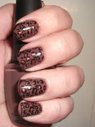brown animal print nails with a metallic pop polish me please