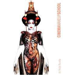 halloween airbrush makeup memoirs of a nelly recchia created geisha are just a little more