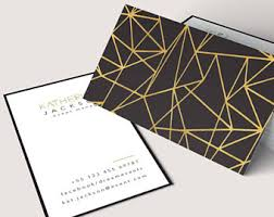Event Business Cards Gold Business Card Etsy