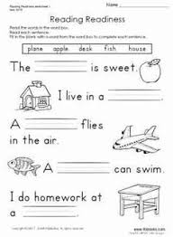 ideas about sentence writing worksheets for kindergarten
