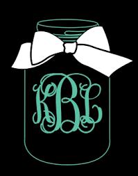 monogram decals jar monogram car decal