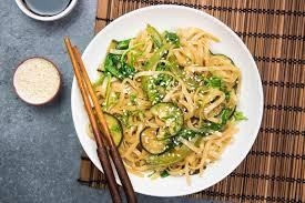 cuisiner vermicelle de riz vermicelles de riz sautés aux légumes verts et à la sauce soja