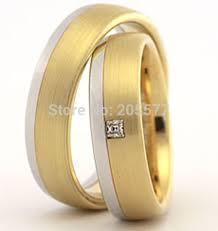 matching wedding band sets luxury custom jewelry yellow gold plating two tone matching