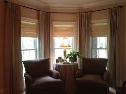 Modern Bay Window Curtains Decorating Contemporary Decorative Metal Curtain Pole For Bay Window Design