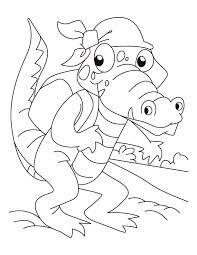 alligator picnic coloring pages download free alligator