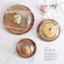 wedding serving dishes acacia wooden plate for cake fruit dessert serving trays creative