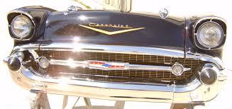 decoration vintage americaine calandre pour décoration murale chevy 1957 pièce authentique