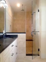 glass shower half wall best shower