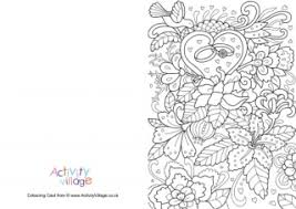 married colouring card