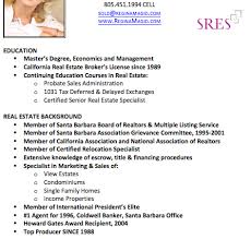real estate resume with no experience real estate broker resume