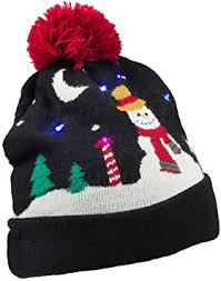 beanie with led lights kitsound fun novelty christmas beanie hat with led amazon co uk