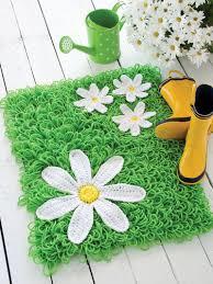 crochet rug patterns free crochet pattern green grass rug