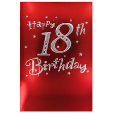 large 18th birthday card male code 150