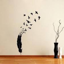 wall designs bird wall flying birds feather wall