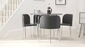 buy hygena amparo dining table 4 chairs black at argos co uk