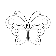 butterfly icon outline style stock vector illustration of