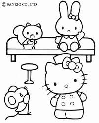 kitty coloring pages hellokids