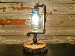 diy mason jar light with iron pipe 21 best pipe ls and decor images on pinterest pipe l