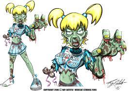 Zombie Cheerleader Zombie Cheerleader By Werecat Studios On Deviantart
