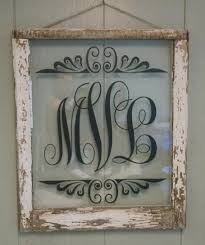 monogram vintage window personalized for by vaughncustomcreation