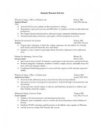 Objective On A Resume Examples Remarkable Internship Resume Sample 9 Advertising College Cover