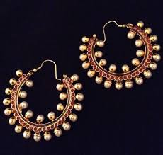 hoops earrings india the adiva fashion pearl jewelry india bali hoop