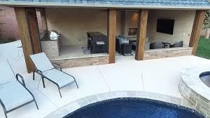 Cabana Ideas For Backyard Pool Cabana Design With Outdoor Kitchen Designing Idea