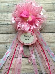 corsage de baby shower hot pink baby shower to be corsage baby