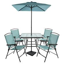 target folding patio table 7pc metal folding patio dining set turquoise threshold target
