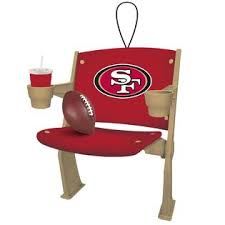 nfl stadium chair christmas ornament san francisco 49ers