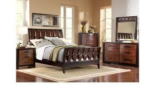 sleigh bedroom set queen heights cherry 5 pc queen sleigh bedroom transitional