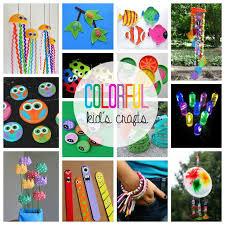 colorful kid u0027s crafts 55 colorful craft ideas