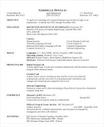 Resume Format For Computer Science Engineering Students Freshers Sample Resume Computer Engineer Mechanical Field Engineer Sample