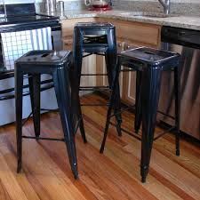 amerihome loft style 24 in stackable metal bar stool in black