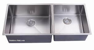 stainless steel double sink undermount belmont 43 stainless steel undermount sink double bowl near zero radius