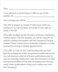 contract employee offer letter template letter idea 2018