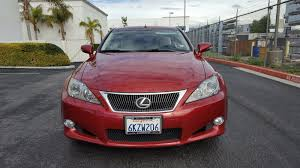 lexus used convertible 2010 lexus is 250c convertible red low mileage used lexus is