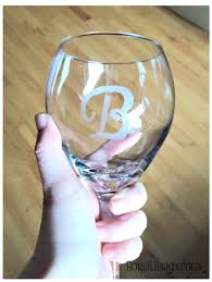 how to create beautiful etched monogram glassware on a dime