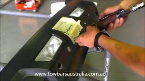 how to cut a bumber for towbar installation