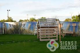 Decorate A Chain Link Fence Custom Chain Link Fence Slats Signs For Success