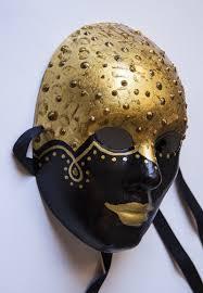 ready to ship black and gold masquerade mask italian wall art