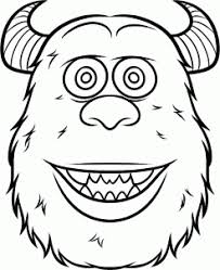 sulley coloring page disney how to draw sulley easy holiday fall pinterest