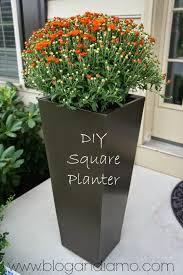 tall square planters a diy tale andiamo