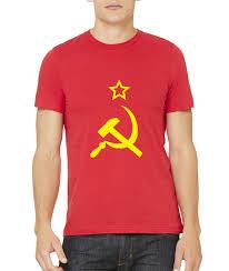 Soviet Russian Flag Ussr Hammer U0026 Sickle Flag Soviet Union Communism Russia T Shirt