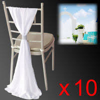 chiffon chair sash 50 x satin chair sashes ties bows wedding party catering reception