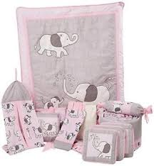 Pink And Gray Crib Bedding Sets Crib Bedding Set Baby Pink Gray Elephant Nursery 13 Pc Gift