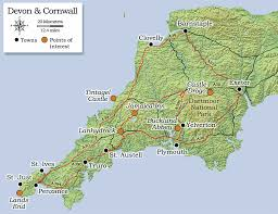 Exeter England Map by Dramatic Devon And Cornwall British Heritage Travel